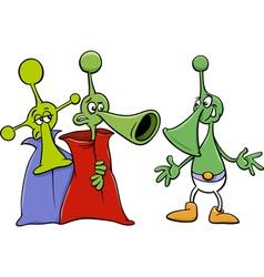 Alien characters cartoon vector