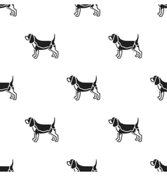 Beagle icon in black style for web vector image vector image