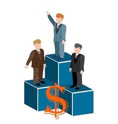 Business man on podium vector image