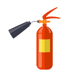 Carbon dioxide extinguisher isolated vector