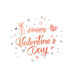creative flyer of a valentine vector image