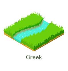 Creek icon isometric style vector