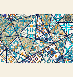 decorative background mosaic patchwork vector image vector image