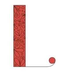 Decorative letter shape Font type L vector image vector image