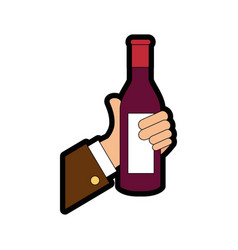 Drink bottle hand vector