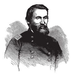 General george crook vintage vector