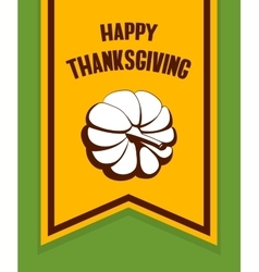 Happy Thanksgiving Day Flag vector image