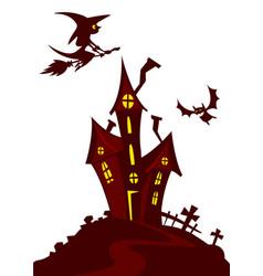 haunted house cartoon vector image