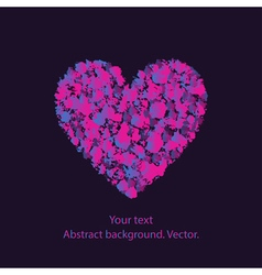 heart with a pattern on a dark background vector image vector image