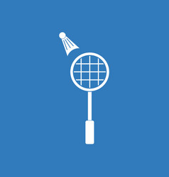 Icon on background kids badminton vector