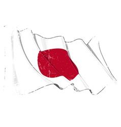 Japan flag grunge vector