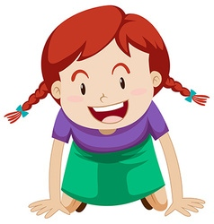 Little girl with red hair vector image vector image