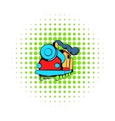Locomotive icon comics style vector image
