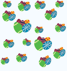pattern colorful Easter eggs vector image vector image