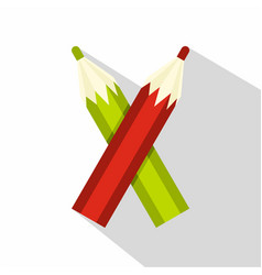 Pencils icon flat style vector