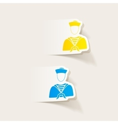 Realistic design element sailor vector