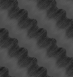 Repeating ornament of dotted wavy texture with vector image vector image