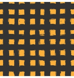 Seamless pattern with orange hand-drawn squares vector