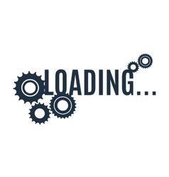 Simple loading icon vector