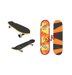 Skateboard design from different angles vector