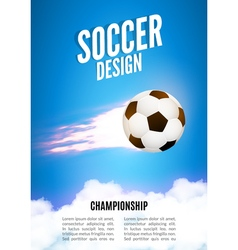 Soccer game design template football poster vector