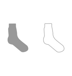 sock it is black icon vector image