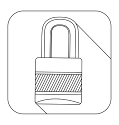 Square shape with silhouette closed padlock vector