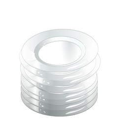 stack plate vector image