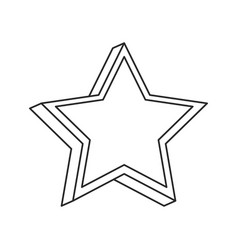 Star prize decoration image outline vector