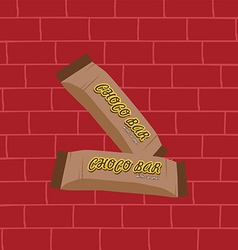Sweet chocolate bar vector