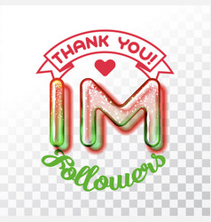 thank you 1m followers vector image