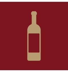 The wine icon bottle symbol flat vector