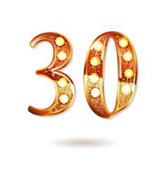 thirty years anniversary celebration logotype vector image