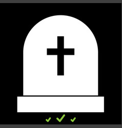 tomb stone it is white icon vector image vector image
