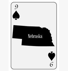 usa playing card 9 spades vector image vector image