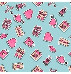 Valentines day colored pattern vector