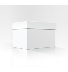 White Horizontal Carton box in Perspective vector image