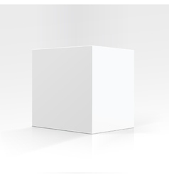 White Square Carton box in Perspective Isolated vector image vector image
