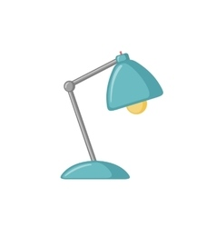 Table lamp icon in flat style vector