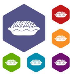 pie icons set vector image