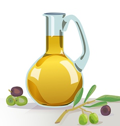 Olives oil vector