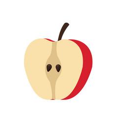 slice apple fruit fresh food nutrition vector image