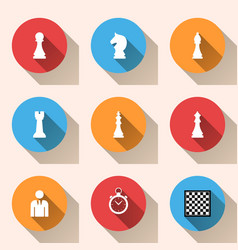 Chess logo business infographics vector