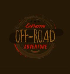 Off-road logo image vector