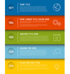 Modern infographic timeline report template vector