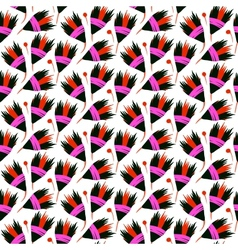 Seamless floral pattern with black tulips vector