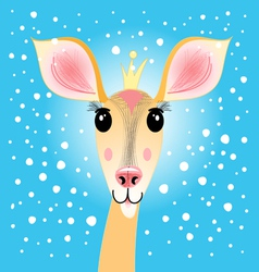 Portrait of a deer vector