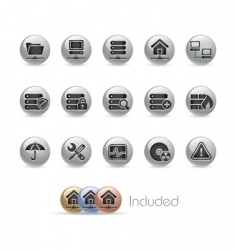 server icons vector image