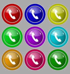 Phone sign icon support symbol call center symbol vector