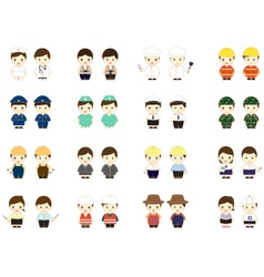 People occupation characters vector